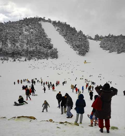 The snowboarding park : Michlifen Ifrane the Moroccan fascinate city