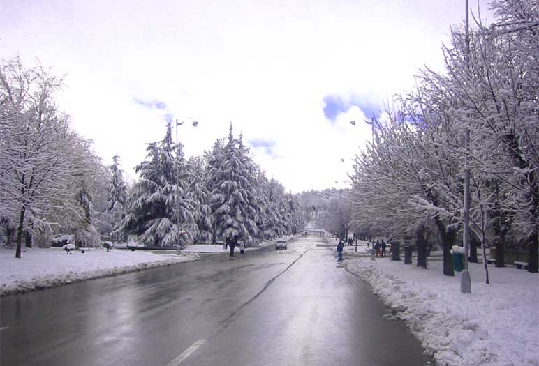 Ifrane in winter Ifrane the Moroccan fascinate city